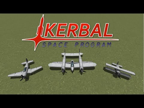 Fighter Jet Showdown WW2 (Part 1/2) - Propeller Aircraft - Kerbal Space Program