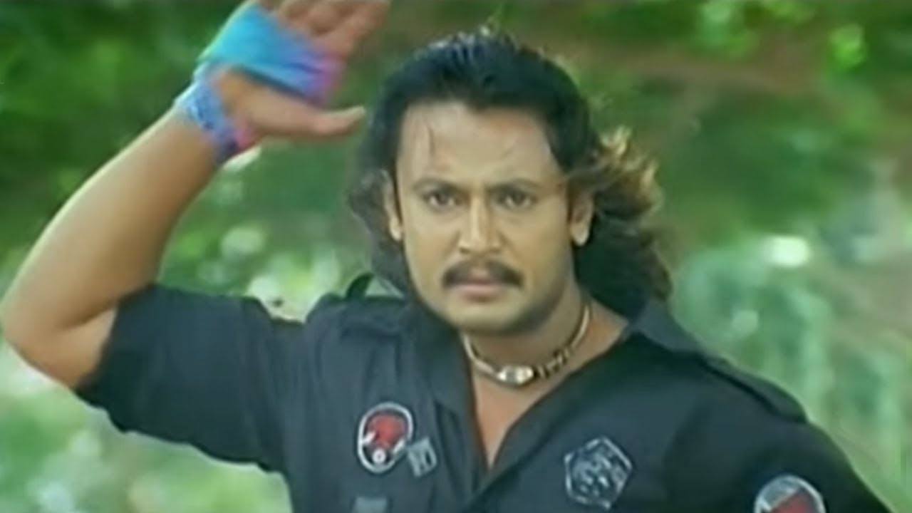 Download Darshan Killed Rowdy in front of Heroine Namitha | Indra Kannada Movie Action Scene