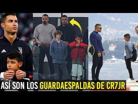 ASÍ SON LOS TEMIBLES GUARDAESPALDAS DEL HIJO DE CRISTIANO, CON 9 AÑOS Y TIENE ESCOLTA