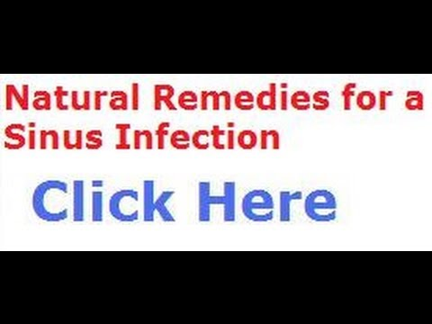 Natural Remedies For A Sinus Infection | Sinus Doctor
