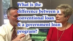 What is the difference between a conventional loan & a government loan program?