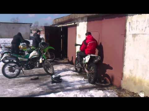 Кроссовые мотоциклы зимой