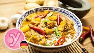 Devil's Curry – Feurig Scharfes Curry Mit Hähnchen Und Kartoffeln – Nichts Für Schwache Gemüter ;)