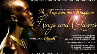 NCSU African Night 2015 Promo Video (Kings and Queens)