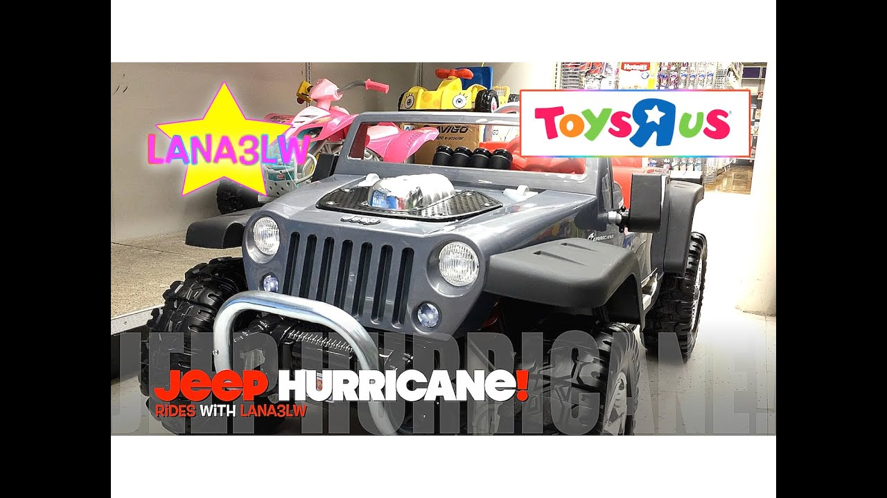 best popular jeep hurricane kids ride on electric car test drive toys r us lana3lw