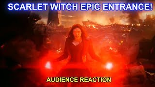 Scarlet Witch Epic Entrance Versus Thanos (Audience Reaction) - Avengers: Endgame