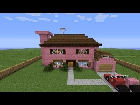 Minecraft costruzioni la casa dei simpson youtube for Piccoli progetti di casa di minecraft