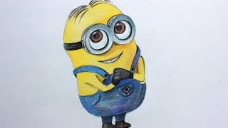 Drawing lessons.How to Draw  a Minion From Despicable Me 1,2