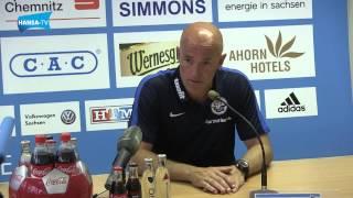 Pressekonferenz nach dem Auswärtsspiel beim Chemnitzer FC