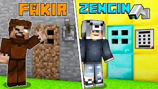 FAKİR GİZLİ KAPI VS ZENGİN GİZLİ KAPI 😱 - Minecraft