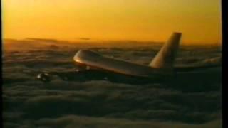 鶴のマークの日本航空B-747のクルージング大沢たかおさんのナレー...