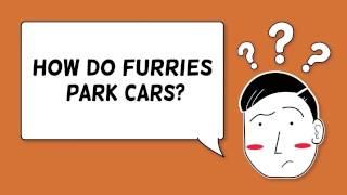 How do furries park cars?