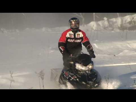 экстрим катание на снегоходе / polaris dragon rmk 700 snowmobile riding