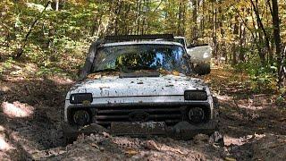Трэш в лесу . Тот момент когда удачно заблудились но авто неудачно ломалось и пришлось вернуться.