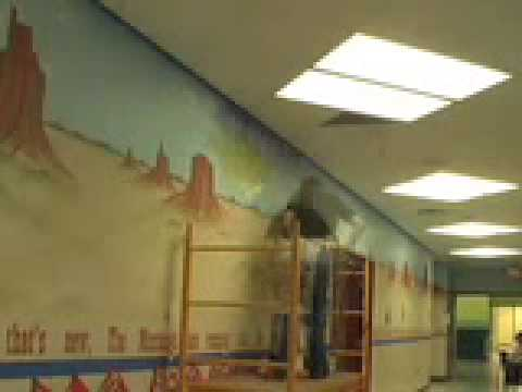 "Chaffee Trail Elementary School  Mural: ""Blazing a Trail Into The Future"""