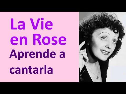 La Vie en Rose: Cómo cantarla en Francés - Aprende a pronunciar letra en Francés Karaoke Edith Piaf