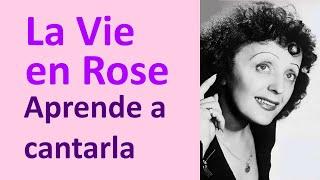 """Cómo cantar en Francés """"La Vie en Rose"""": Pronunciar letra en Francés con Karaoke de Edith Piaf"""