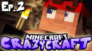 Minecraft  CRAZY CRAFT 3.0 | Ep 2 : DEADLY RAVINES (Crazy Craft Modded Survival)