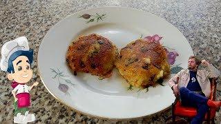 Оладьи картофельные постные с морковью и луком на сковороде рецепт