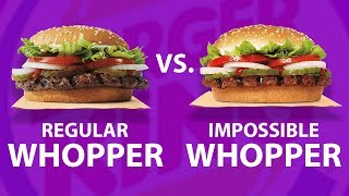 Blindfolded Taste Test: Impossible Whopper VS. Regular Whopper