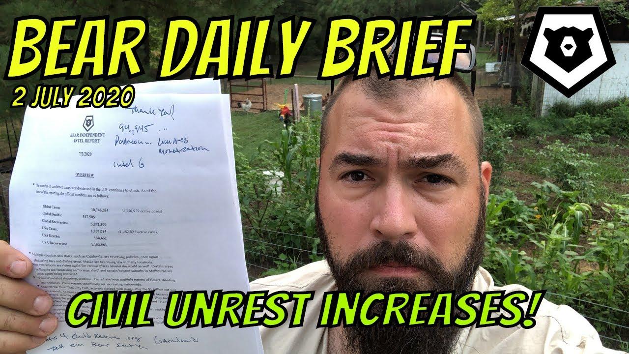 Civil Unrest Increasing - Bear Daily Brief 2 JUL 2020