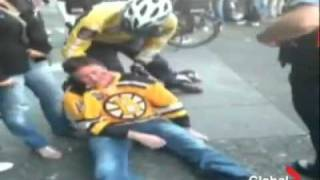 Bruins fan survives fall - Vancouver Riot 2011