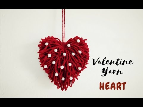 DIY-Yarn Heart |Valentine Gift For Him | Woolen Crafts Wall Hanging | Craftastic