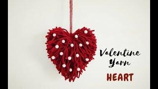 DIY-Yarn Heart |Valentine Gift For Him | Woolen Crafts Wall Hanging | Craftastic