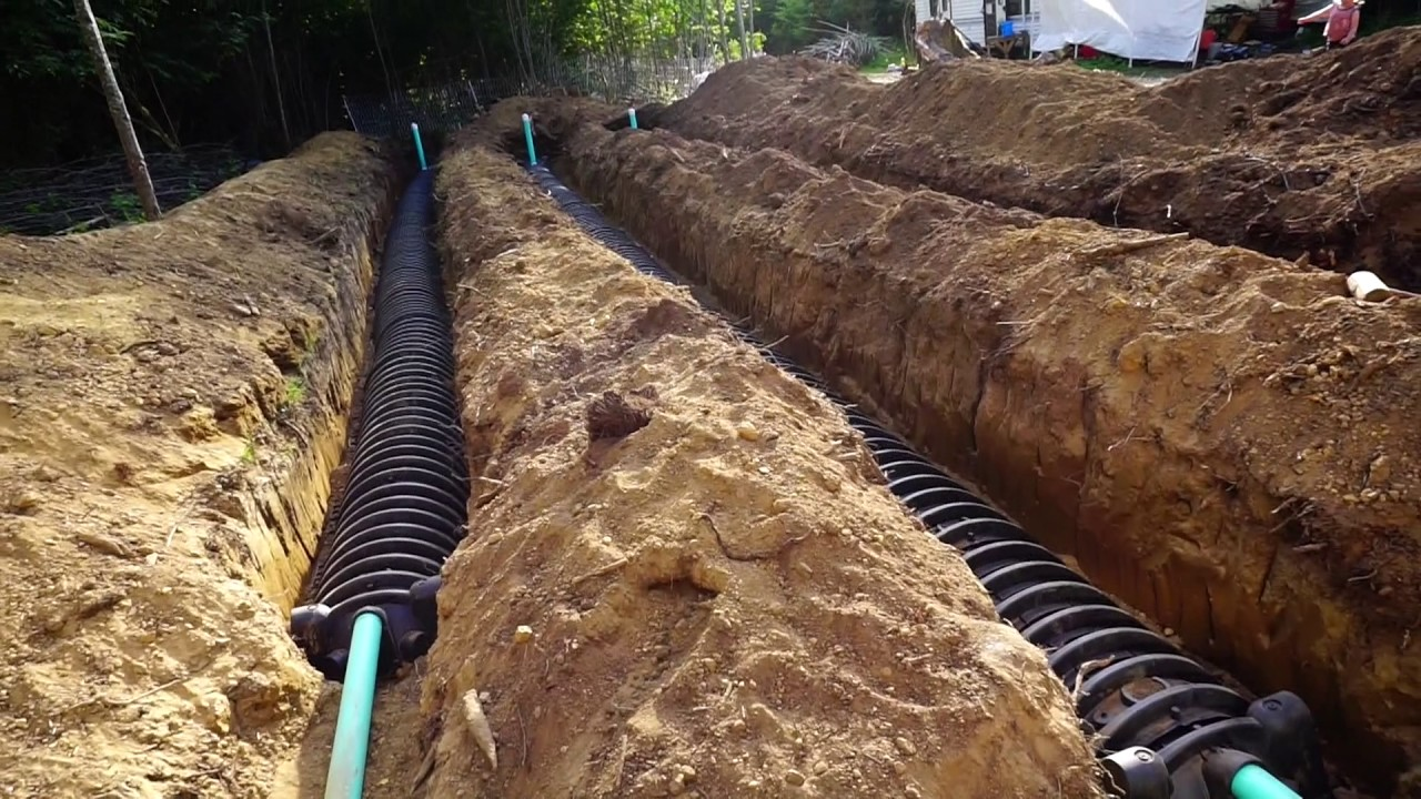 We Installed A Gravity Septic System Youtube