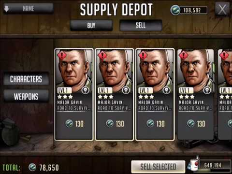 Walking Dead : Road to Survival - SUPPLY DEPOT SELL - 125K SUPPLY POINTS!!