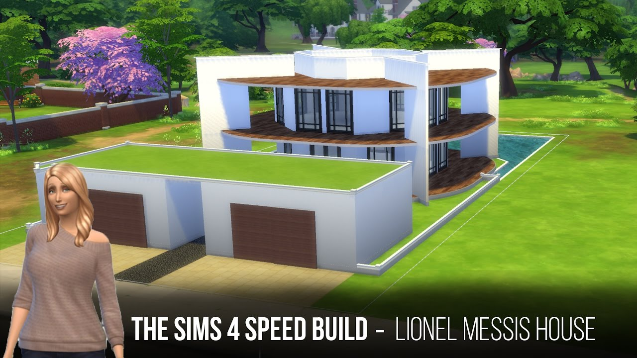 The Sims 4 Speed Build   Lionel Messis House   YouTube