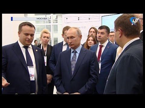 Губернатор Андрей Никитин познакомил Владимира Путина с проектом Новгородской технологической школы