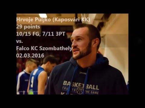 Hrvoje Puljko 29 points (7 Three-Pointers) vs. Falco KC Szombathely