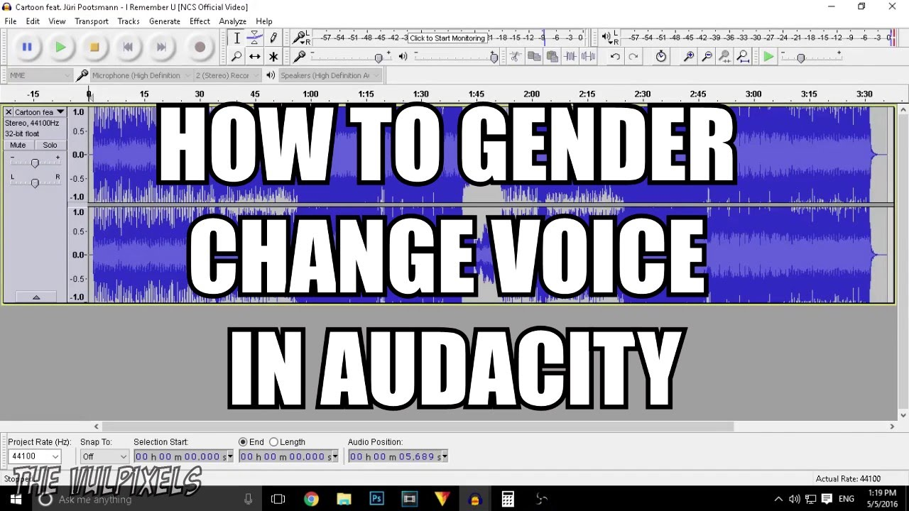 HOW TO GENDER CHANGE VOICE IN AUDACITY