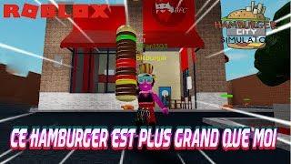 CET HAMBURGER EST PLUS GRAND QUE MOI! | Roblox Hamburger Simulator