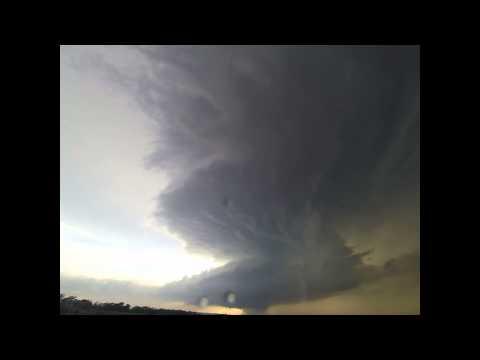 Medicine Lodge, KS tornadic supercell time lapse, 04-08-15