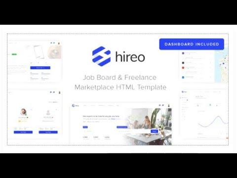 Hireo - Job Board  Freelance Services Marketplace HTML Template