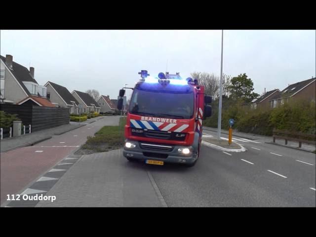 Brandweer, Ambulance en Politie met spoed naar verschillende meldingen in Ouddorp Zh