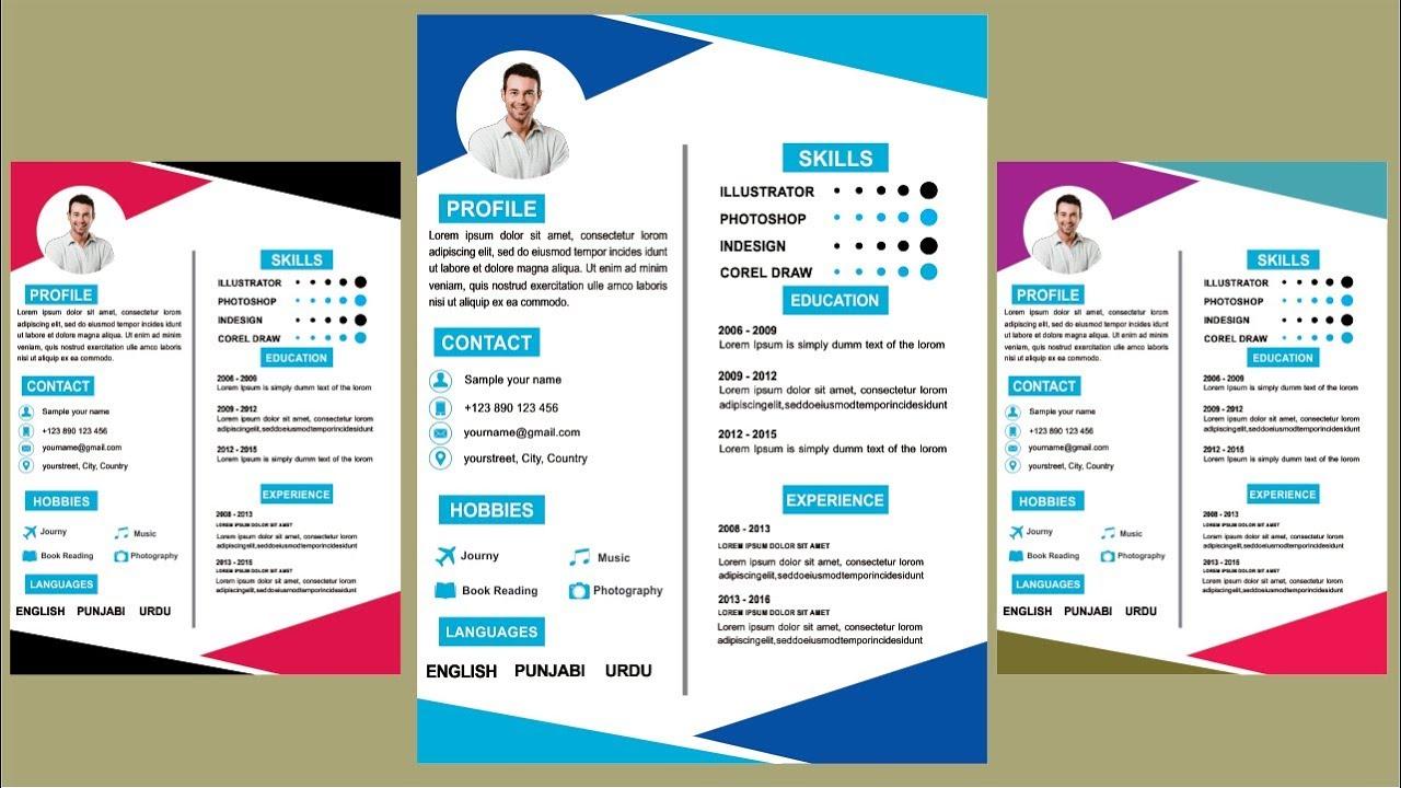 how to make cv resume temaples in coreldraw