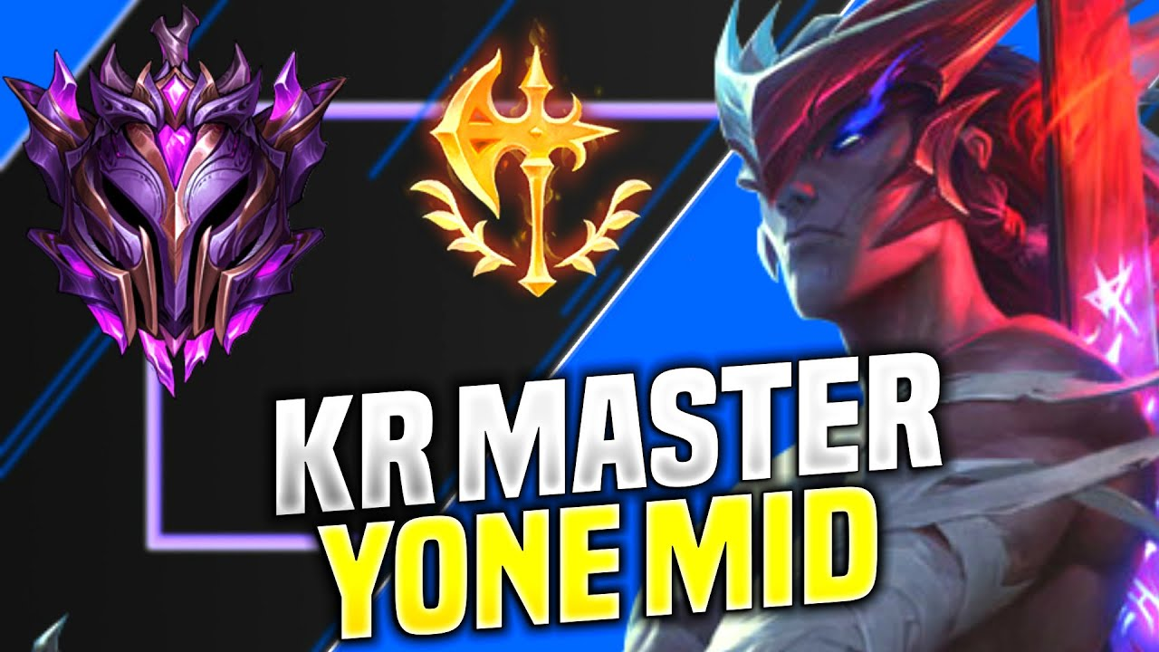 NEW CHAMPION YONE is so BROKEN in HIGH ELO KOREA! | KR SoloQ Patch 10.16