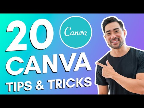 20 CANVA TIPS AND TRICKS // Canva Tutorial For Beginners
