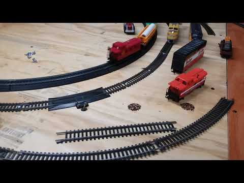 My 8 year old talking about our ho train set up