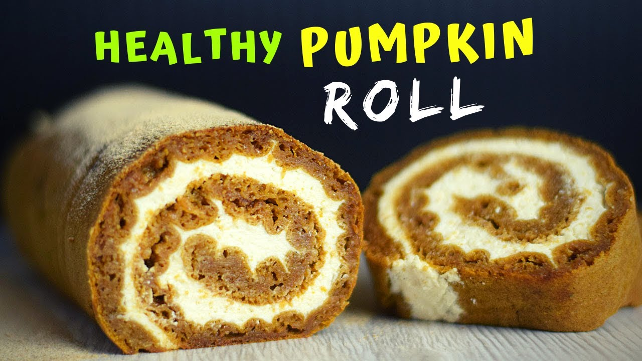 Easy Pumpkin Roll (HEALTHY and LOWER IN CALORIES!)