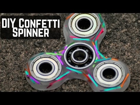 How to Epoxy Resin Fidget Spinner! (DIY 2 part epoxy with confetti)