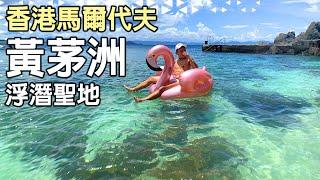 香港馬爾代夫 隱世祕境【黃茅洲】放暑假啦 呢度竟然係香港!?媲美峇里島 碧綠色的海洋⎢浮潛玩家的私藏景點 海膽之洋⎢黃石碼頭包船⎢Hong Kong Beach⎢窮遊達人 TIMBEE LO VLOG
