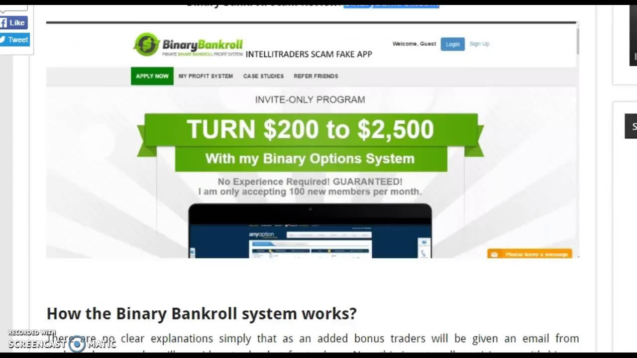 Binary Bankroll   Binary Today