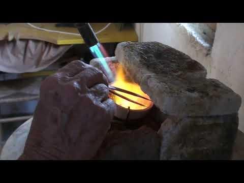 Silver casting molten silver part 1