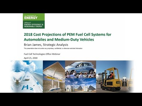 2018 Cost Projections of PEM Fuel Cell Systems for