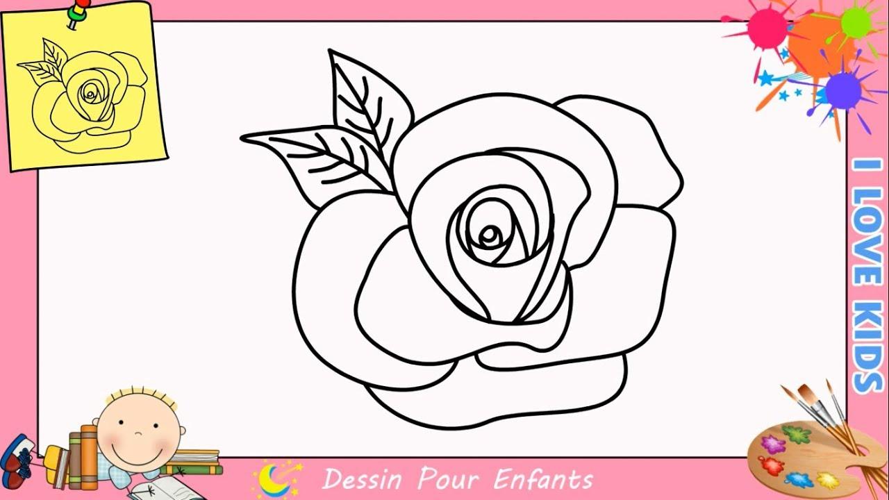 comment dessiner une rose facilement etape par etape pour enfants 1 youtube. Black Bedroom Furniture Sets. Home Design Ideas