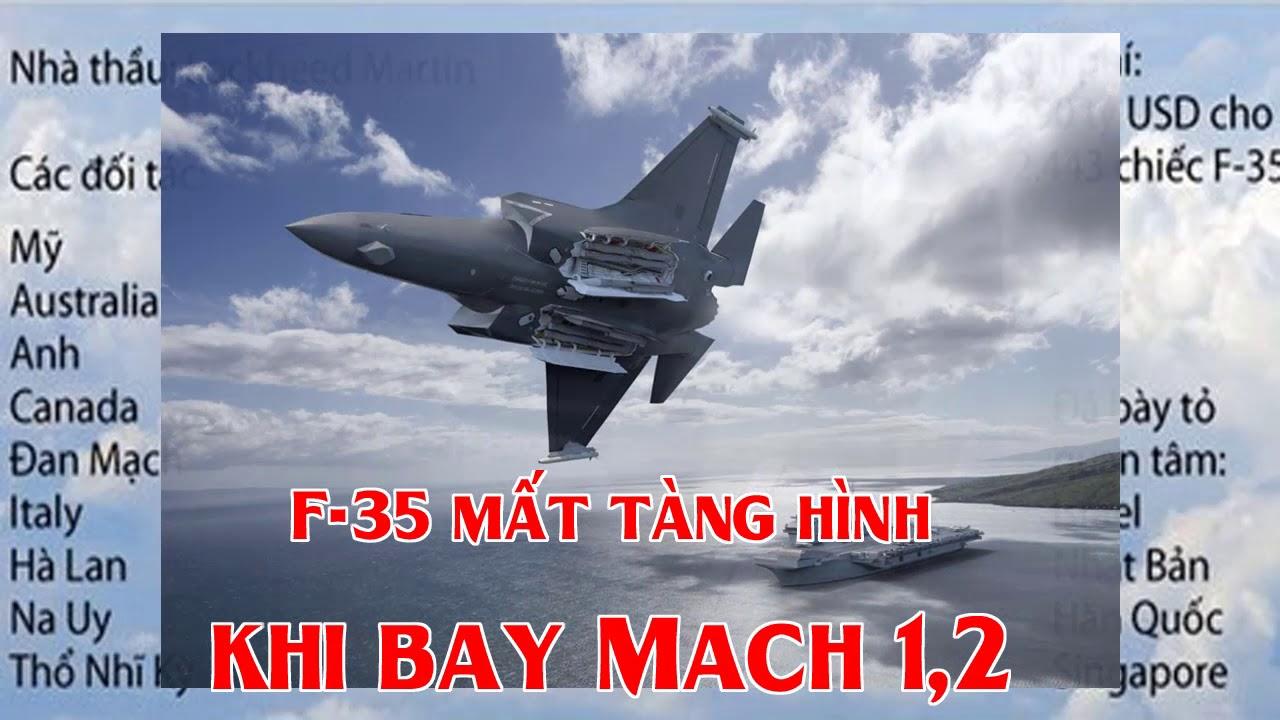 F 35 mất tàng hình khi bay Mach 1,2
